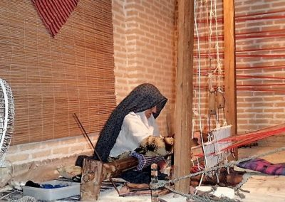 Cloth weaver near Yazd