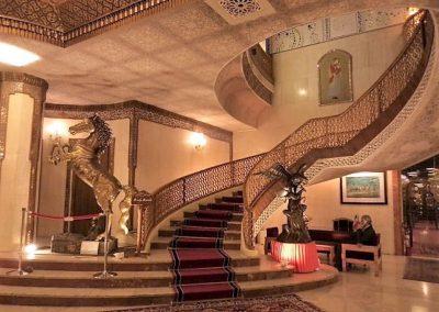 Staircase at the Abbasi Hotel, Isfahan
