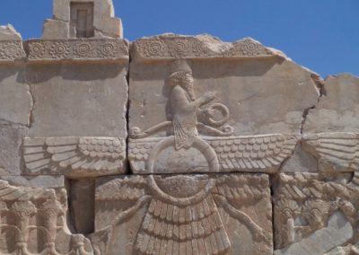 Zororastrian symbol in Persepolis