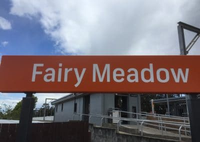 Sign for Fairy Meadow Station