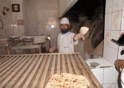 Small town bakery in Iran