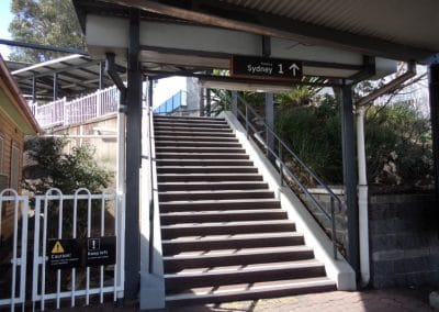 Stairs at Wollongong Station