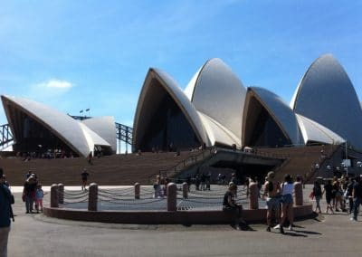 Sydney Opera House from the walkway
